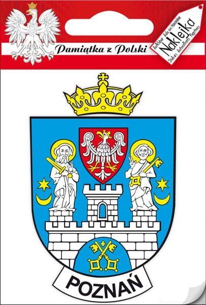 Naklejka pojedyncza - herb Poznań