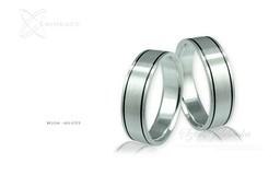 Obrączki srebrne - wzór Ag-033