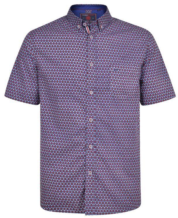 KAM 6197 Koszula Granatowa Duże Rozmiary