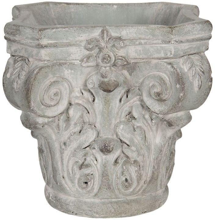 Doniczka rzeźba kolumna szara z kamienia WERONA
