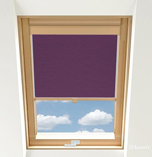 Rolety do okien dachowych - BASMATI - Śliwka / Sosna