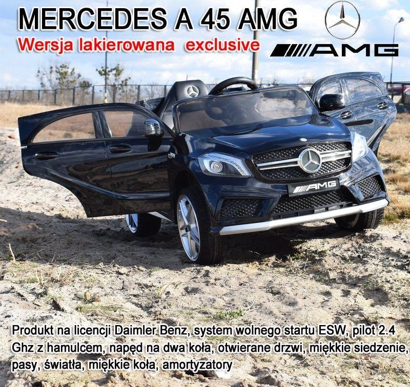 MERCEDES A45 AMG Z AMORTYZATORAMI, MIĘKKIE KOŁA, SIEDZENIE, HAMULEC, LAKIER/CH9988