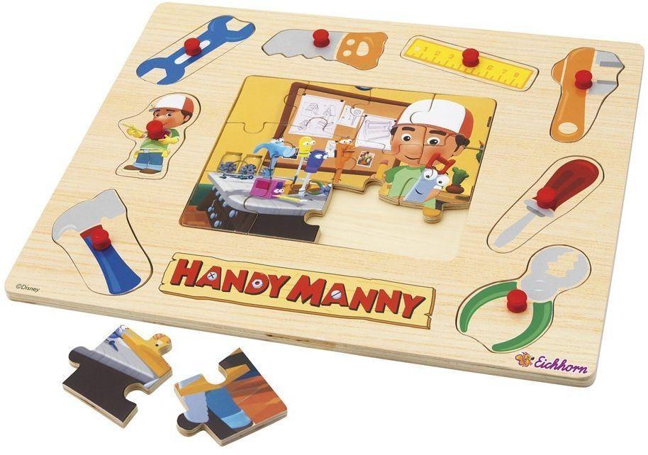 Eichhorn 100004722 - Handy Manny 2 w 1 drewno - puzzle, 3 - różne