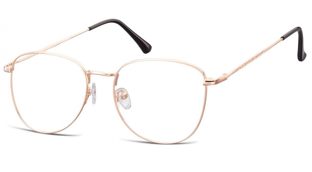 Oprawki okulary Pilotki zerówki korekcyjne 924G złote