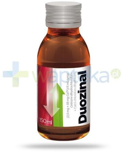 Duozinal (2,5 mg + 58 mg)/5ml lek przeciwalergiczny syrop 150 ml
