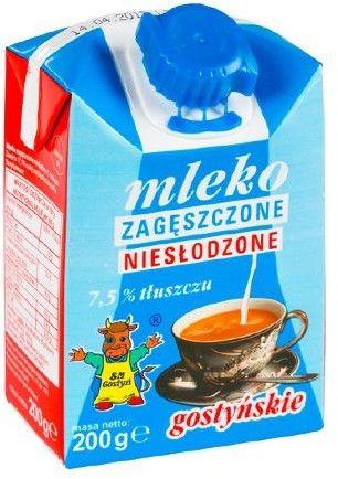 Mleko zagęszczone 200ml - niesłodzone 7,5%