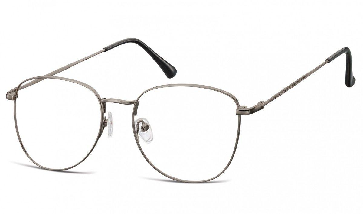Oprawki okulary Pilotki zerówki korekcyjne 924H grafitowe