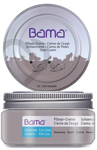 Krem do obuwia BAMA Premium 058 Granitowy 50ml w słoiczku - Szary