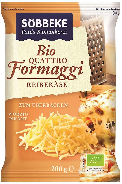 Mix czterech tartych serów 48% tłuszczu w suchej masie bio 200 g - sobbeke