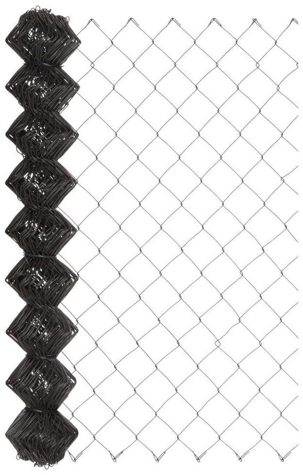 Siatka ogrodzeniowa pleciona 1 x 10 m antracytowa
