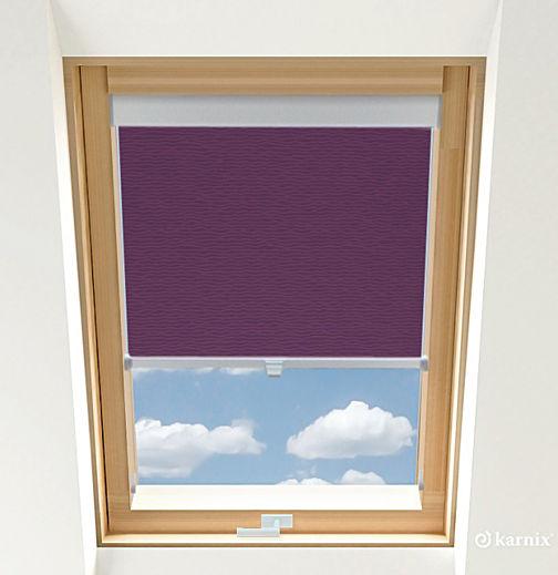 Rolety do okien dachowych - BASMATI - Śliwka / Srebrny