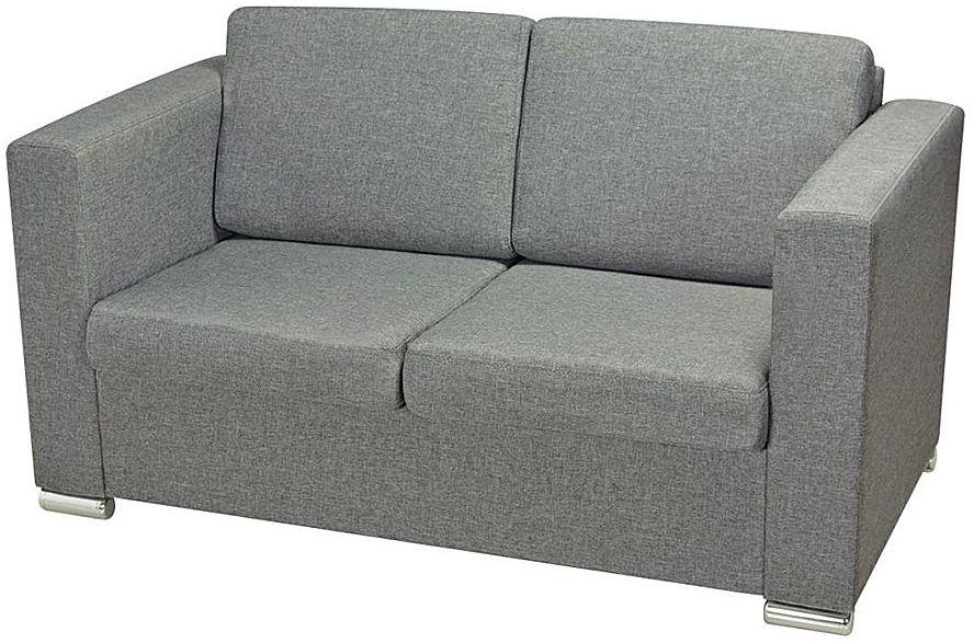 Dwuosobowa jasnoszara sofa loftowa - Sigala 2Q