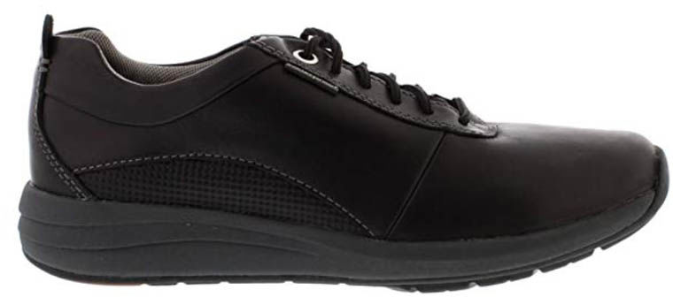 Męskie półbuty Clarks Un Coast Plain Black Leather 26132833