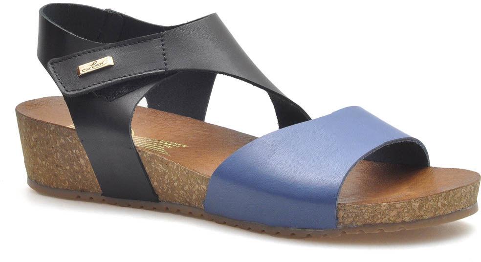 Sandały Lemar 40196 Czarne/Niebieskie lico