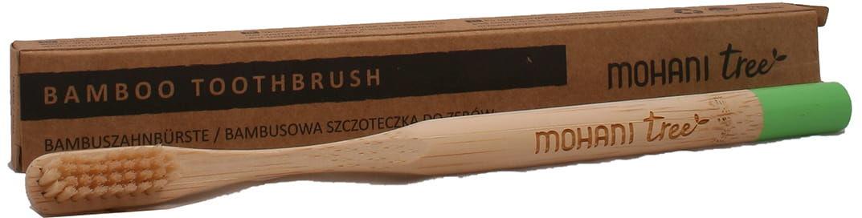 Szczoteczka bambusowa do zębów k. zielony - Mohani - 1szt