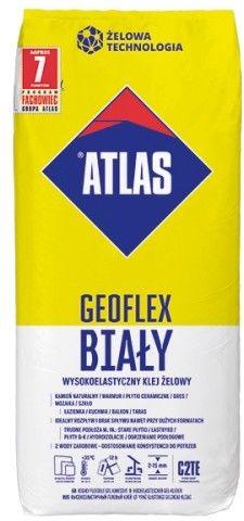 Klej żelowy wysokoelastyczny biały 25 kg GEOFLEX ATLAS