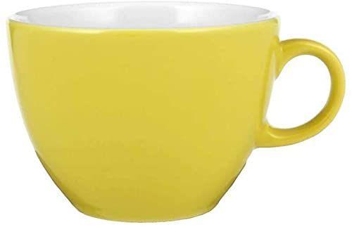 Seltmann filiżanka do cappuccino, żółta, 105 mm