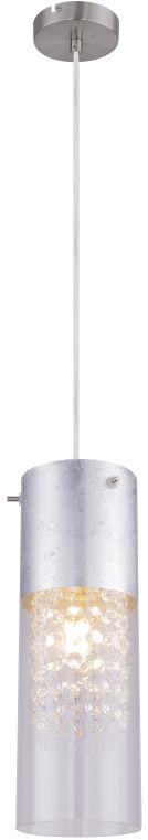 Globo WEMMO 15908-1S lampa wisząca srebrny mat 1xE27 11cm