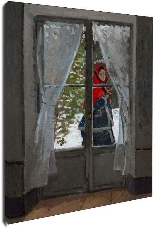 The red kerchief, claude monet - obraz na płótnie wymiar do wyboru: 40x50 cm