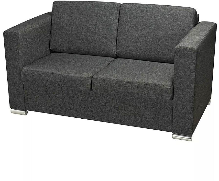 Dwuosobowa ciemnoszara sofa loftowa - Sigala 2Q