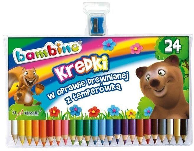 Kredki ołówkowe 24 kolory BAMBINO - ST-MAJEWSKI