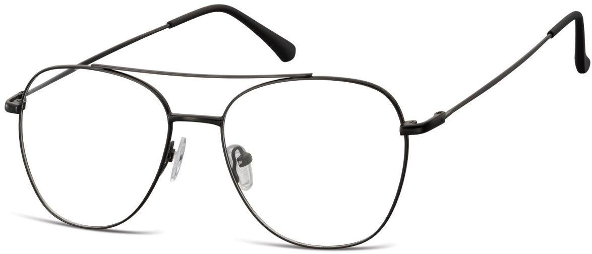 Oprawki okulary Pilotki zerówki korekcyjne 922B czarne