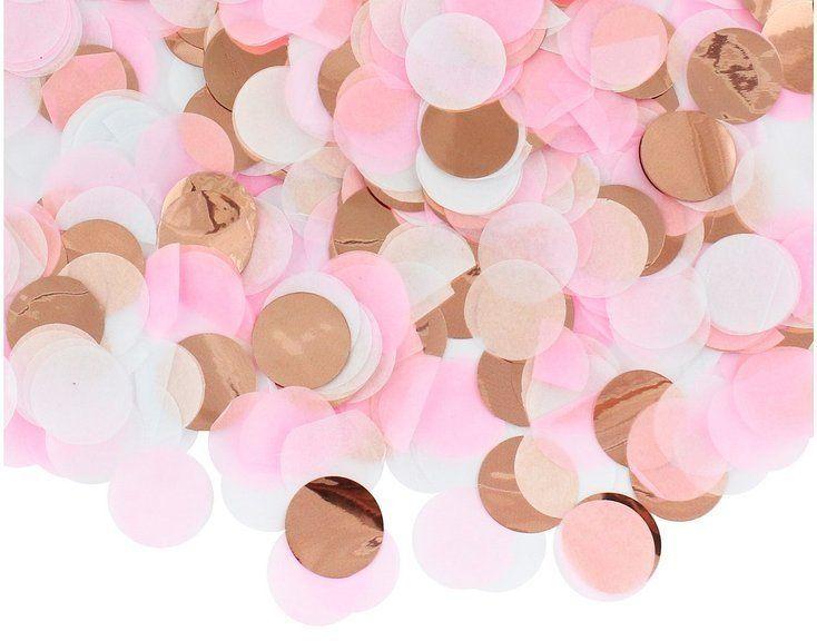 Konfetti kółka różowe MIX kolorów 15g PF-KKRZ
