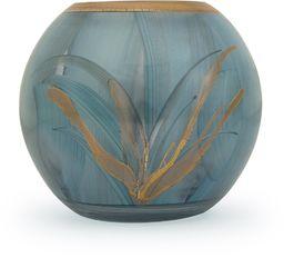 Angela nowy wiedeński stół warsztatowy szklany wazon uszlachetniony kształt kuli, szkło, turkusowy/niebieski, 14 x 14 x 14 cm