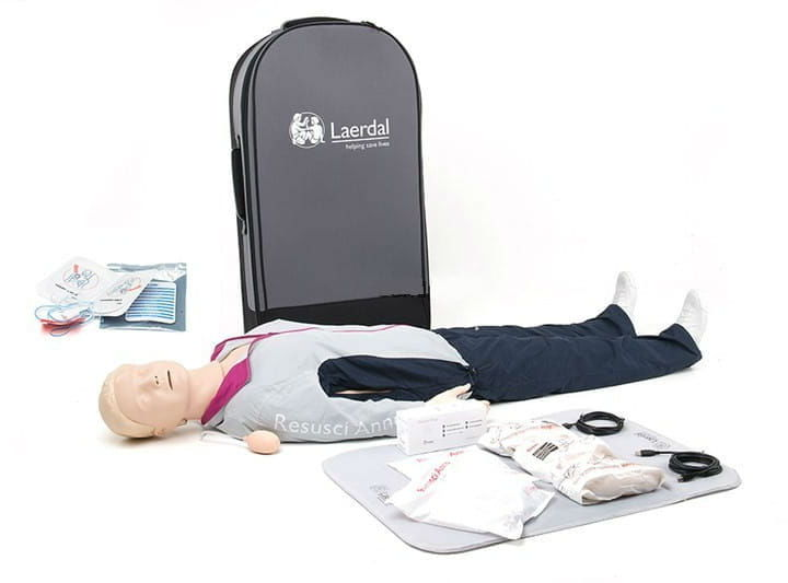 Resusci Anne QCPR AW Head Torso Rechargeable (miękka torba - mata)