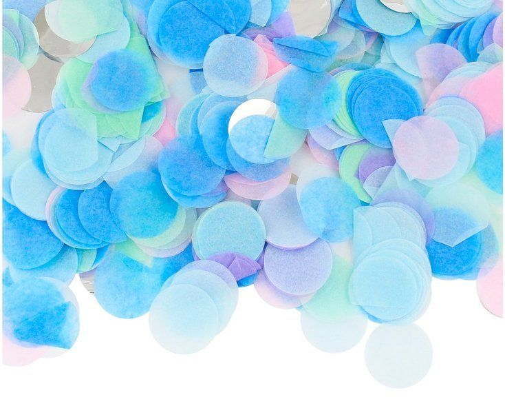 Konfetti kółka niebieskie MIX kolorów 15g PF-KKPM