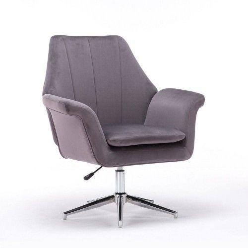 Popielaty fotel obrotowy ERNESTO ( SC-M9038 ) / welur