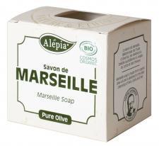 Mydło marsylskie oliwkowe 100% EKO 230 g Alepia