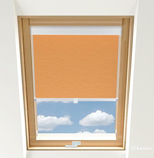 Rolety do okien dachowych - BASMATI - Łosoś / Biały