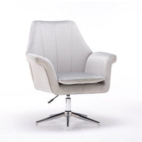 Jasnoszary fotel obrotowy ERNESTO ( SC-M9038 ) / welur