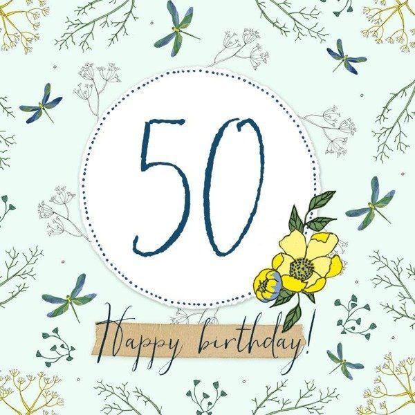 Karnet Swarovski kwadrat CL2250 Urodziny 50