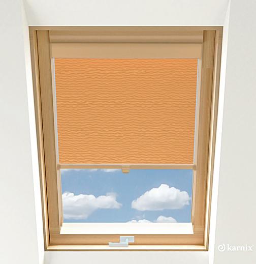 Rolety do okien dachowych - BASMATI - Łosoś / Sosna