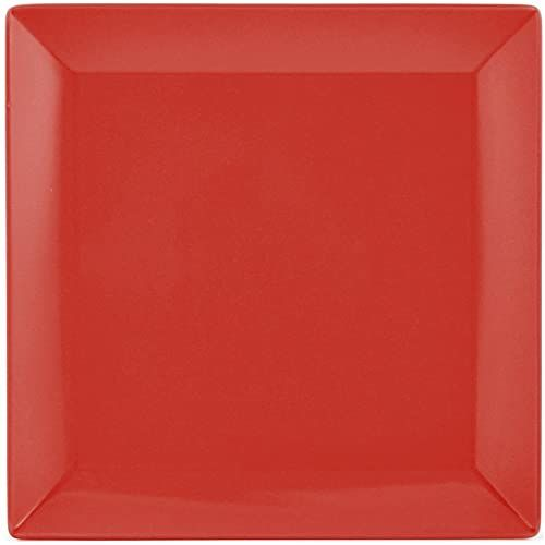 H&H Boston zestaw 6 talerzy, kamionka, koral, kwadratowy, 18 x 18 cm