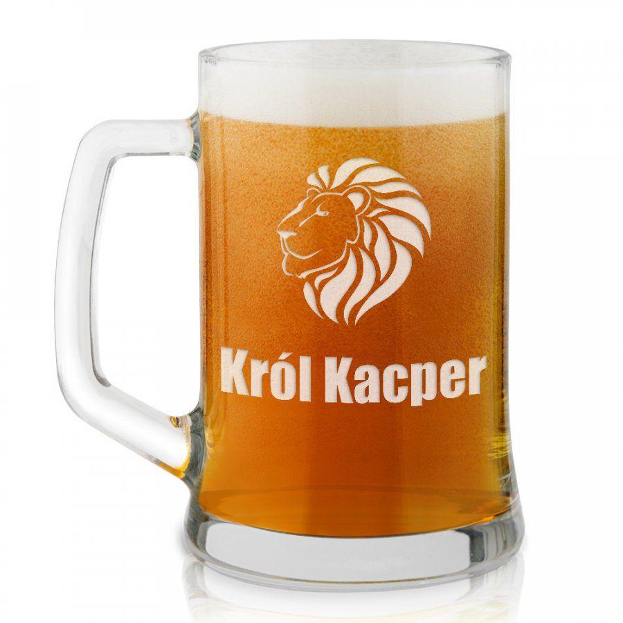 Kufel szklany do piwa z grawerem dla niego szefa