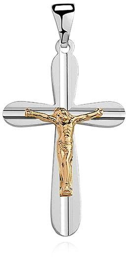 Krzyżyk srebrny, pr.925. - złocony