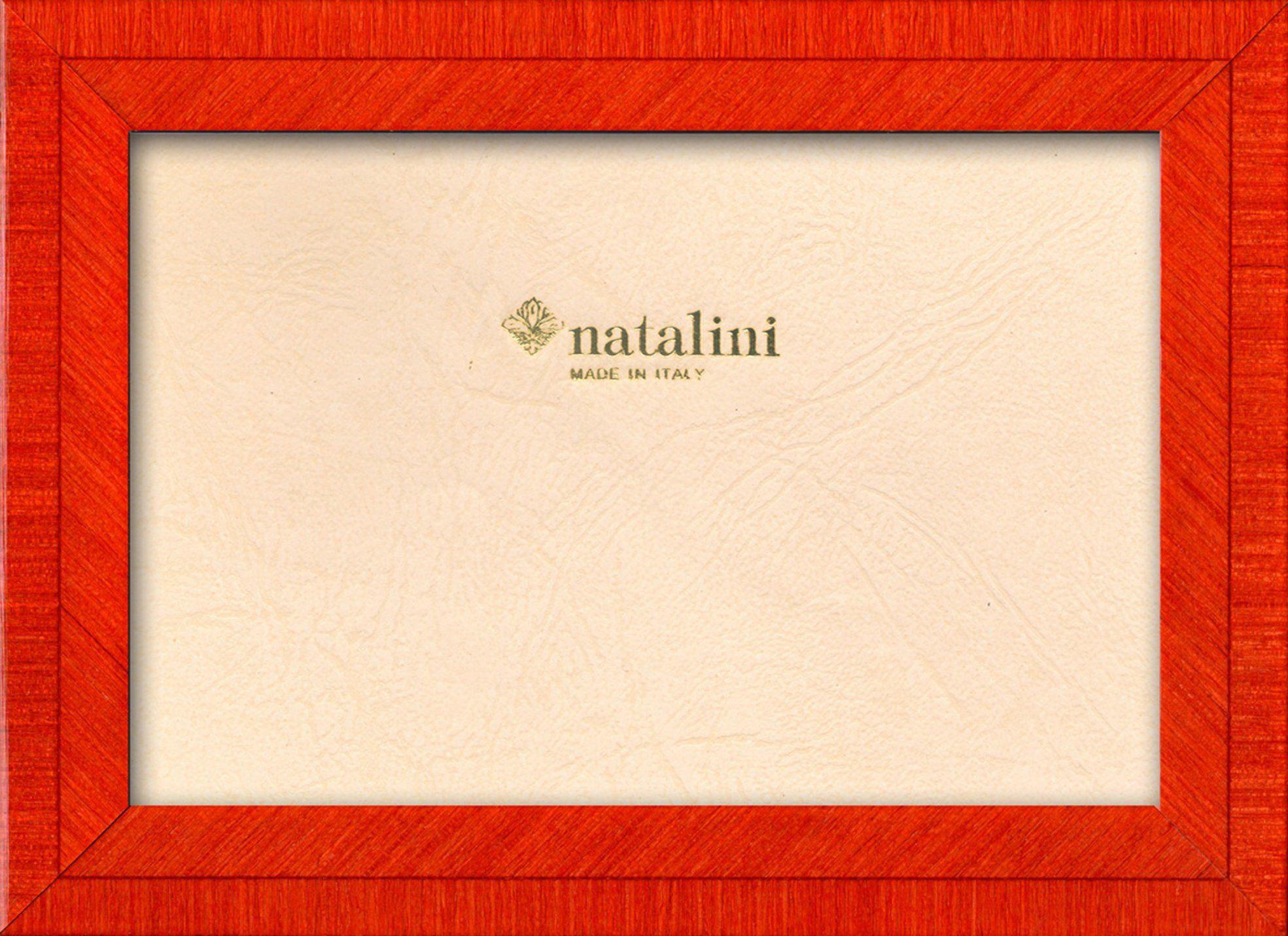 Natalini Marquetry ramka na zdjęcia wykonana we Włoszech, tulipan, pomarańczowa, 10 cm x 15 cm
