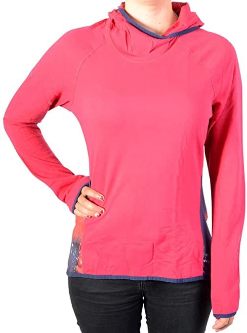 Desigual Damska koszulka Ts_long Sl Night Gar, 3037 Rojo Abril, L Knitted Long Sleeve T-shirt czerwony czerwony L