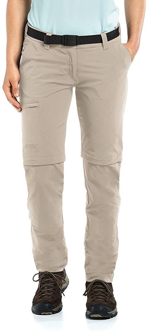 Maier Sports Damskie spodnie z odpinanymi nogawkami Inara Slim, pióro szare, 46, 233026