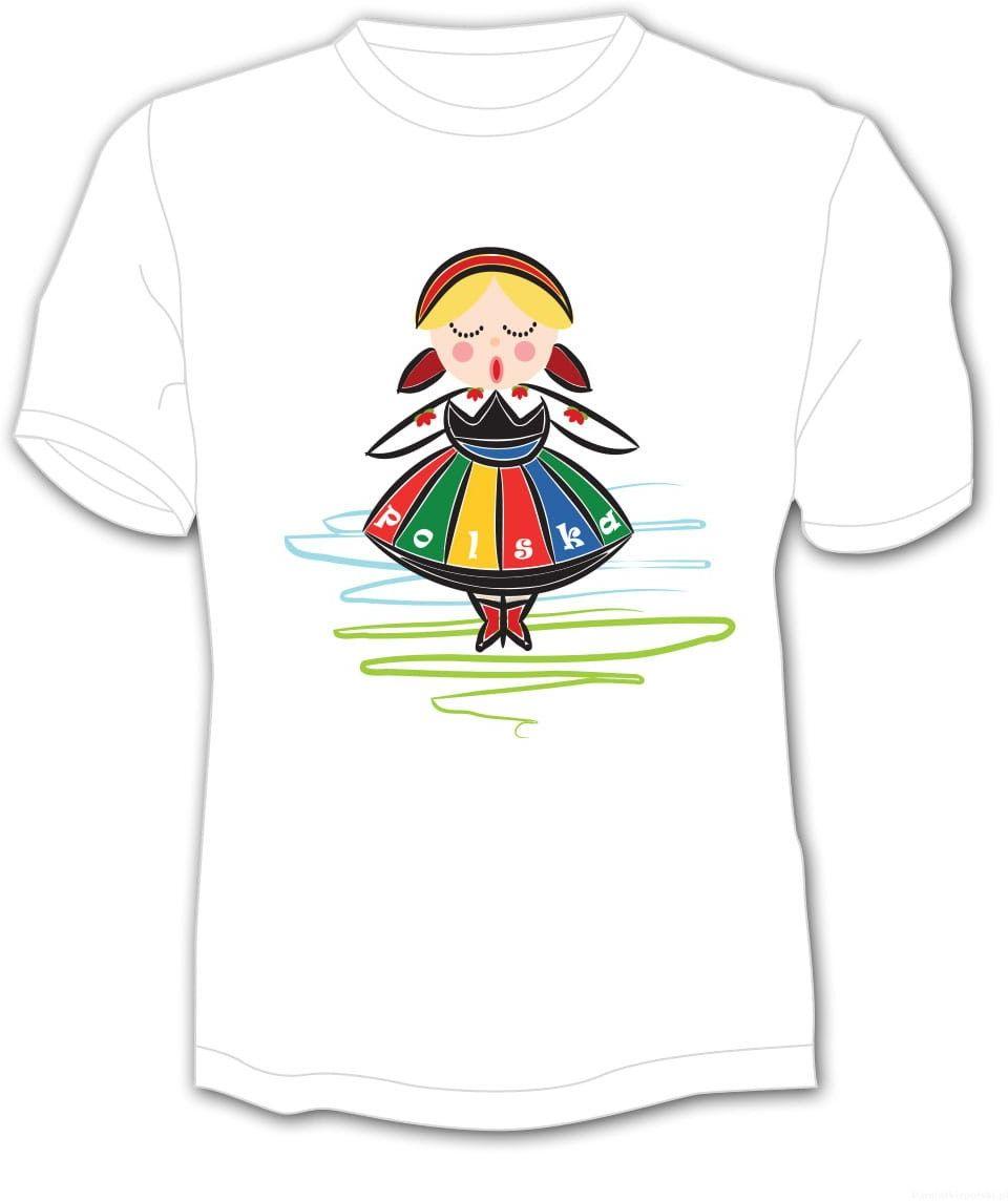 Koszulka dziecięca Polska Dziewczynka