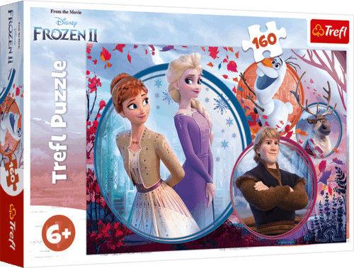 Puzzle 160 Elementów Kraina Lodu 2: Siostrzana Przygoda Trefl