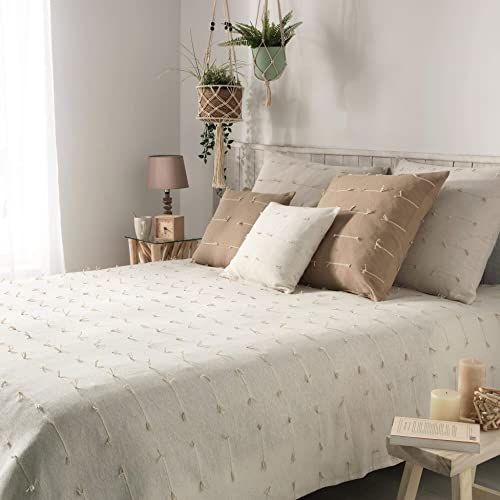 Narzuta na łóżko pojedyncze, 180 x 220 cm, Fileo natur