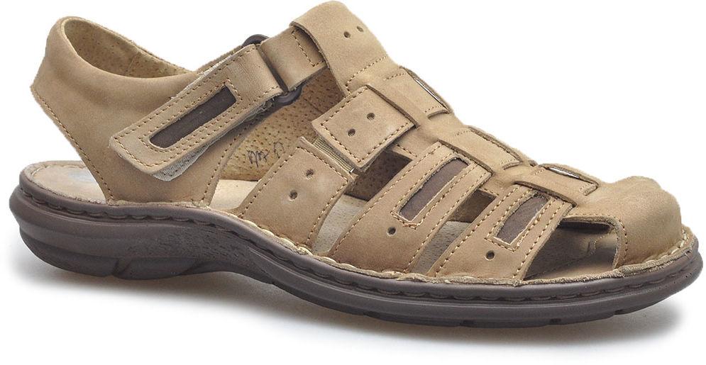 Sandały Pan S-25 Brązowe nubuk