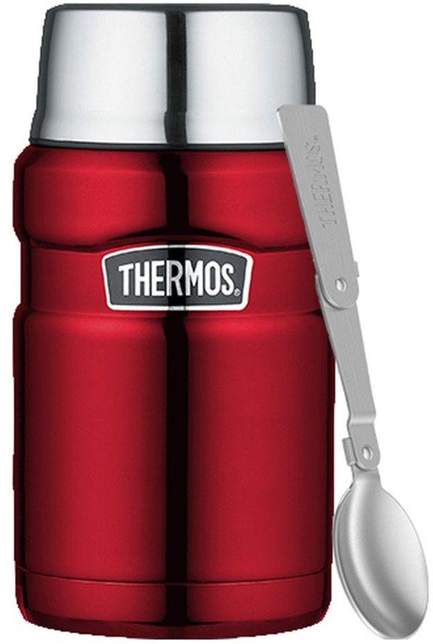 Termos na jedzenie z łyżką Thermos 0,7 l Stainless King - red - red