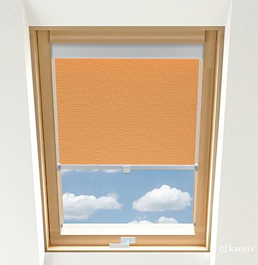 Rolety do okien dachowych BASIC BASMATI - Łosoś / Srebrny