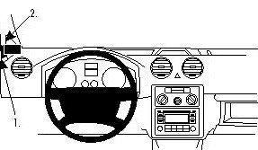 ProClip do Volkswagen Caddy 04-19