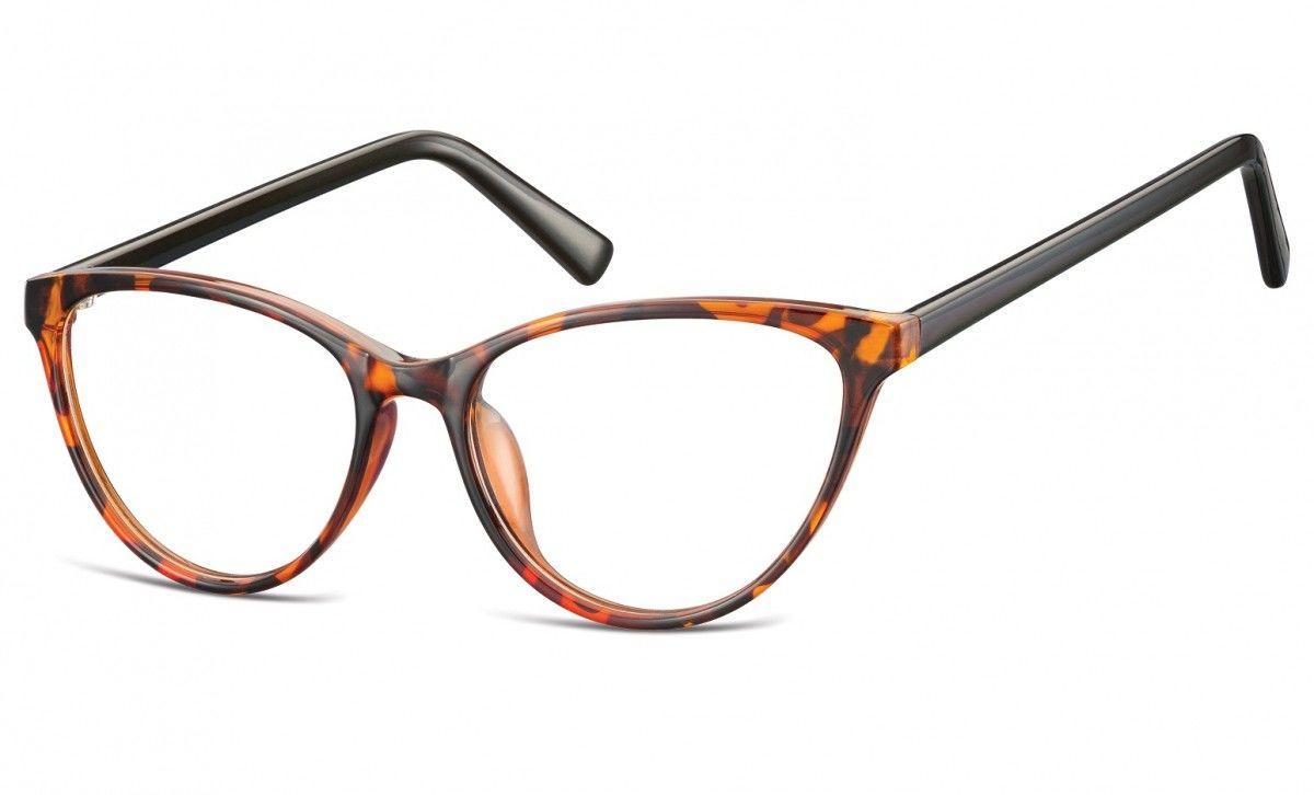 Oprawki korekcyjne okulary Kocie Oczy zerówki Sunoptic CP127C szylkret